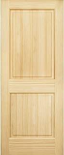 2-Panel Door, Interior Door Slab, Solid Pine, Square Top, Double Hip Panel (80x30)