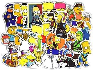 50 Pieces Set Cartoon Sticker, Waterproof PVC Simpson Stickers for Laptop,Car,Phone,Luggage Bike Stylin
