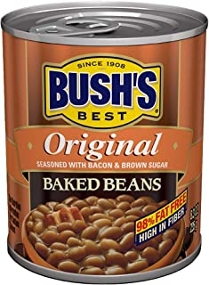 Bush's Best Baked Beans Original Seasoned with Bacon & Brown Sugar 8.3 OZ (6)