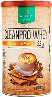 Cleanpro Whey Iso e Hidro - 450g Cappuccino - Nutrify, Nutrify