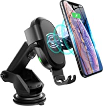 Qi Wireless Car Charger, ABKUL Auto-Clamping Car Mount 10 W Fast Charging Dashboard Windshield Phone Holder Compatible with iPhone Xs Max/XS/XR/X/8+/8, Samsung Galaxy S10/S9/S8/S8+/Note9/Note8