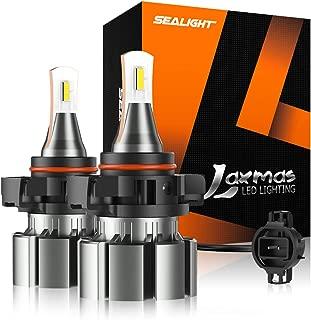 SEALIGHT 5202 5201 LED Fog Light Bulb, 5600lumen 6000K Extremely Bright Xenon White, Halogen Fog Light Bulb Replacement(pack of 2)