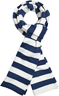 blue and white bar scarf