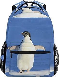 バックパックトラベルペンギンスノービュースクールブックバッグショルダーラップトップデイパックカレッジバッグレディースメンズボーイズガールズ