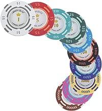 Gazechimp Valor Nominal De 50 Dólares Monte Carlo Fichas Poker De Arcilla Sala De Póquer Del Casino Etiqueta Juegos