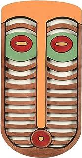 Tiki Mask Abstract Wall Decor Wooden Face (10x5)