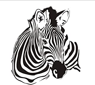 Huanxidp Zebra Wall Stickers for Kids Rooms Wall Decor Removable Waterproof Animal Wall Art Decals Wallpaper Home Decorati...