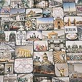 Werthers Stoffe Stoff Meterware Baumwolle Berlin Reichstag Funkturm Trabbi Mauer Siegessäule Digitaldruck Fotodruck