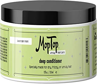 12oz Deep Conditioner, Wavy, Curly & Kinky-Coily, Color or Chemically Treated & Natural Hair Moisturizing Mask, made w/ Aloe, Sea Botanicals & Honey that reduces Frizz, increases Moisture & Manageability for Smooth & Silky Hair - Lavender Mint