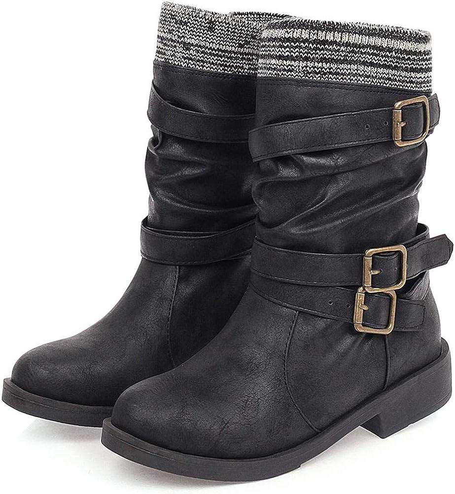 CYNLLIO Women's Low Block Heel Western Cowgirl Cowboy Cald WEB限定 B 正規品送料無料 Mid