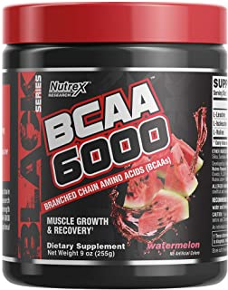 Nutrex Research BCAA 6000 | 6 Grams of Branched Chain Amino Acids | 2:1:1 Ratio of L-Leucine, L-Isoleucine, L-Valine for Muscle Growth, Recovery & Endurance | 30 Servings (Watermelon)