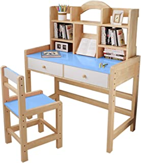 Pink//Blue A406 Kids Study Desk Study table and chair set Juniors Toddler study chair and desk for children boys and girls gift set