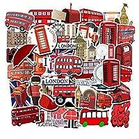 US-Style 50枚 ロンドン イギリス ステッカー 耐水 防水 シール 車 詰め合わせ
