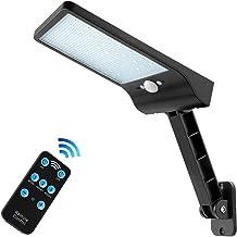 Auzev 56 Led Remote Solar Lights Outdoor 180° Adjustable Bracket Security Dimmable Night Light Wireless Motion Sensor 3 Li...