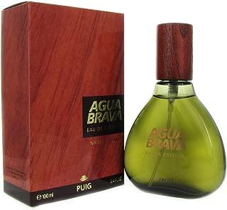 Puig Agua Brava Eau de Cologne Spray for Men, 3.4 Ounce