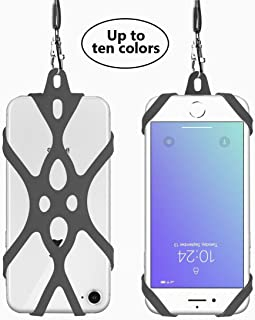 Cell Phone Lanyard Rocontrip Strap Case Holder with Detachable Neckstrap Universal for Smartphone iPhone X 8,7 6S iPhone 6S Plus,Huawei Samsung Galaxy Google Pixel 4.7-5.5 inch (Gray)