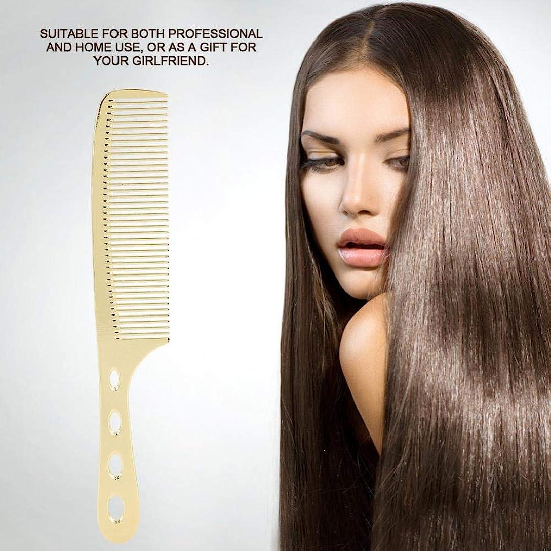 トムオードリースビルダーかけがえのないプロフェッショナルヘアブラシ、アルミニウム合金ステンレススチール静電気防止 櫛 美容ツール シェイプツール ポータブル 理髪師 サロン  ホーム(ゴールド1)
