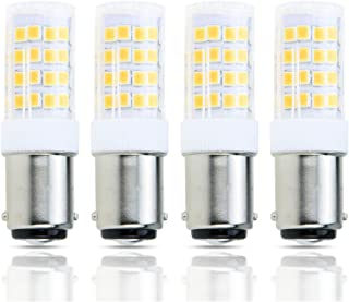 Lamsky 4-Pack Led BA15D Double Contact Bayonet Base AC110-130V 4W Led Light Bulb,T3/T4/C7/S6,Warm White 2700K,LED Halogen Replacement Bulb,No-Dimmable
