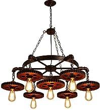 الثريات العتيقة الصناعية، 6 مصادر الضوء، إضاءة الثريا، السقف، معدات تصميم قديم، ديكور منزلي، مقهى، غرفة المعيشة، غرفة الطع...