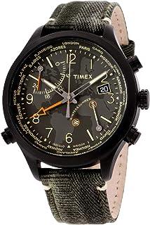Timex Waterbury World Time Black Dial Canvas Strap Men's Watch TW2R43200
