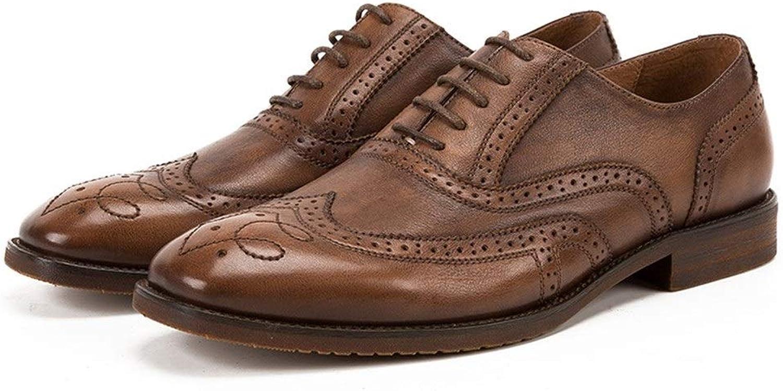 Easy Go Shopping Mans Affärsskor läder Brittiska Brock Mans Mans Mans skor Handgjorda mansskor Stora skor Cricket skor (Färg  bspringaaa, Storlek  8.5 -UK)  professionellt integrerat online köpcentrum