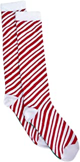 Red Charter Club Womens Candy Cane Holiday Christmas Knee-High Socks 9-11