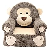 Animal Adventure | Sweet Seats | Monkey Children's Plush Chair, Brown, Large/14' x 19' x 20'