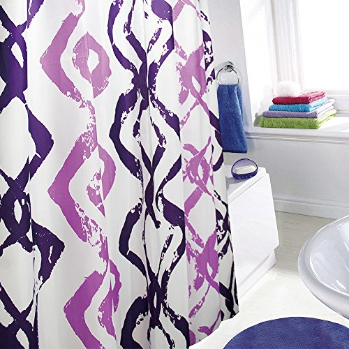 Daloual Duschvorhang/Brausevorhang/Vorhang/Dusche Duschgardine180 x 200 cm Lila