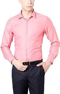 Peter England Men's Solid Slim Fit Cotton Formal Shirt