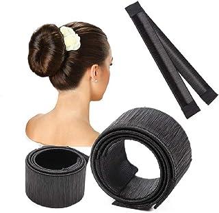 [3 PACK] Hair Bun Maker Tool, T Tersely French Twist Donut Maker Easy Perfect Bun for Women Girls, DIY Hair Bun Tool Makin...