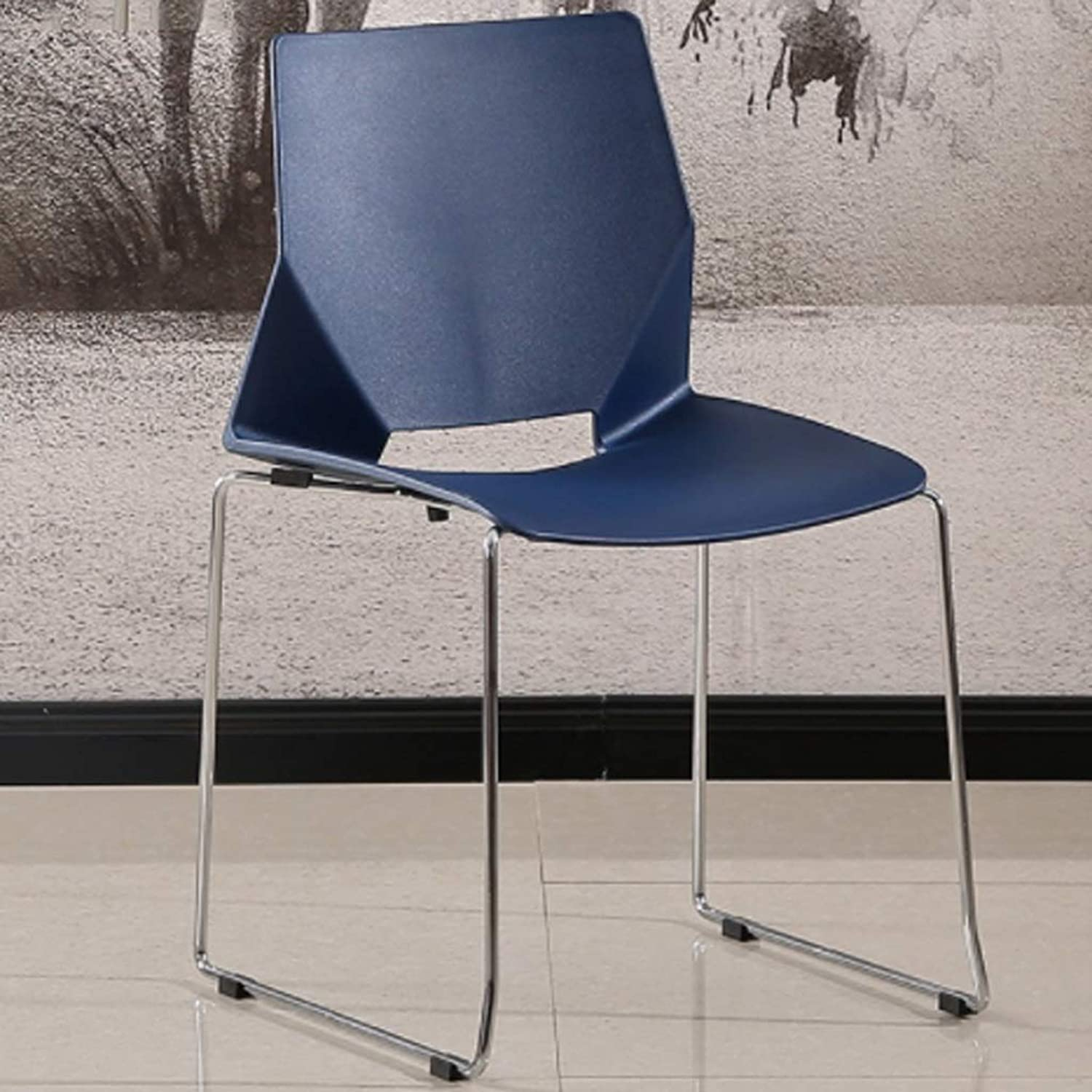 Stool-Chair Simple Computer Chair Office Chair, Dining Chair Plastic Retro Modern Furniture for Living Room, Desk, Patio, Terrace, Office, Kitchen, Lounging, Cafeterias & More (46  53  80CM)