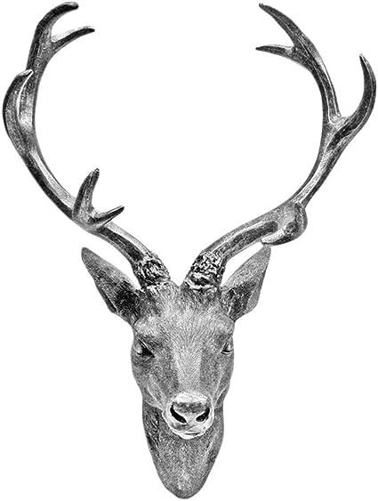 Hertengewei Hertenkop Gewei 10 Ender In Zilver Metaal Look 15 X 30 Cm Figuur Sculptuur Decoratie Amazon Nl Wonen Keuken