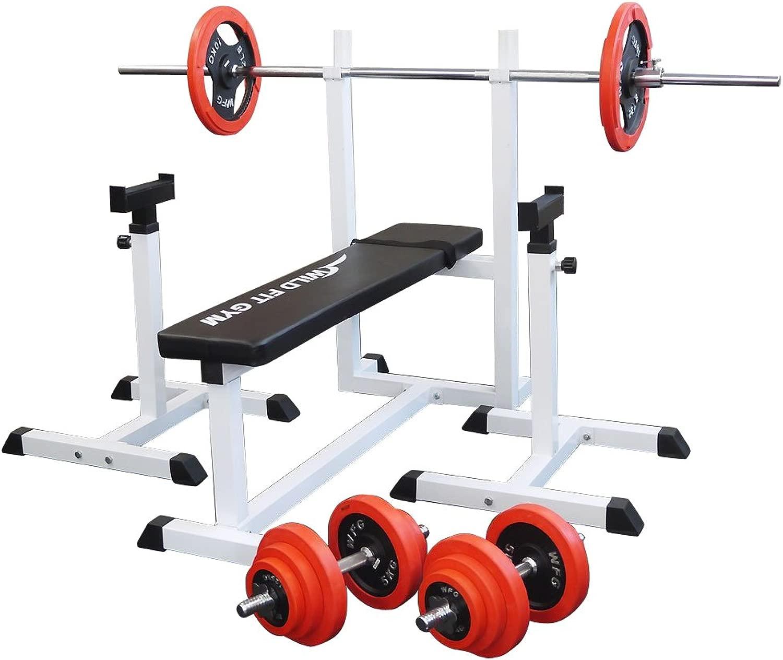 [WILD FIT ワイルドフィット ] トレーニングジムセット 赤ラバー 70kg 大型マシン
