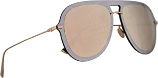 ae64bc3db1b72 Christian Dior DiorUltime1 Sunglasses Silver Pink w Multilayer Gold Lens  57mm AVBSQ Diorultime 1 Ultime1