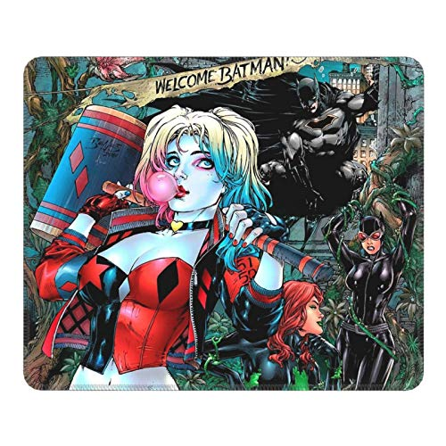 JorgAkem Harley-Quinn-Stand Game Mousepad Gaming Mouse Pad Keyboard Ergonomic Mat Rubber Gamepad with Stitched Edge Wrist Support Rests Big Office Desk for Pc Computer Laptop 7.9 X 9.5 in
