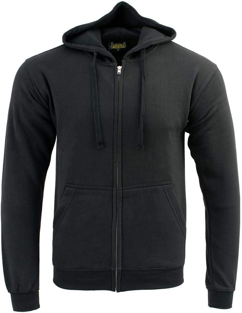 Biker Clothing Co. BCC118025 Classic Black Hoodie with Zipper Closure - 3X-Large