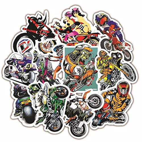 30PCS Motorcycle Stickers Skull Sexy Girl stickers For Luggage Skateboard Bicycle Fridge Laptop Cute Cartoon Sticker Set