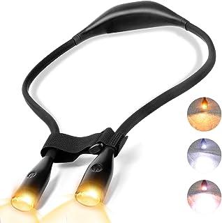 BITIWEND Lampade da libro a LED flessibili lampada da lettura ricaricabile collo la cura degli occhi per l'illuminazione d...