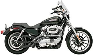 Bassani Xhaust 96-03 Harley XL1200C Radial Sweepers Exhaust (Black with Chrome Heat Shield with Holes)
