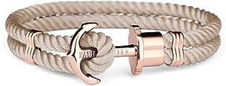 PAUL HEWITT PHREP - Bracciale donna ad ancora - Bracciali donna in nylon (nocciola) con ciondolo ancora in acciaio inossid...