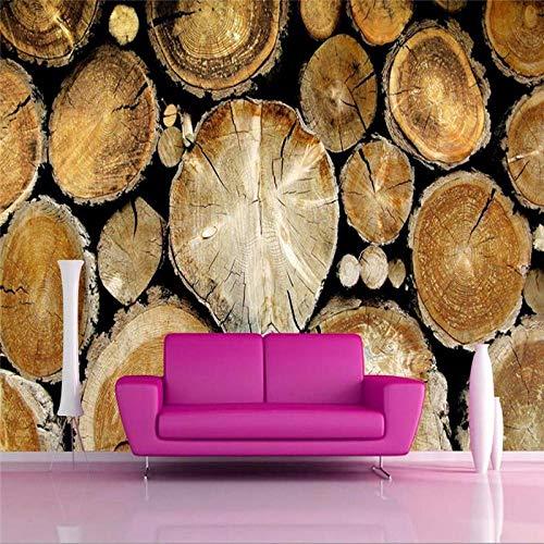 Muzemum 3D-Tapete für Wohnzimmer, Papiere, Hausdekor, Holz, TV Bar, Wandbild, 250 cm x 175 cm