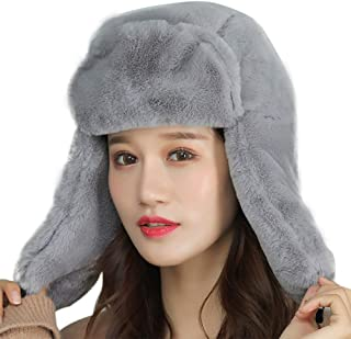 Women Hats Thick Headwear Windproof Hats Cold-Proof Caps Ear Protector Winter Cycling Apparel Accessories