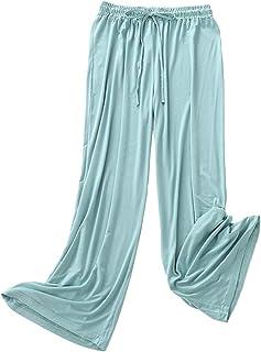 TieNew Pyjama Bottom for Women, Ladies Soft Pajama Bottoms Pure Color Full Length Lounge Pants Tracksuit Bottoms