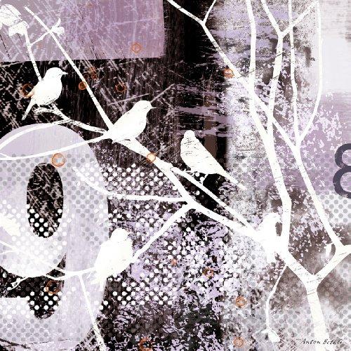Eurographics Deco Metal Inspiration - Cuadro de Metal, diseño City Birds, 30 x 30 cm