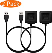Fitbit Blaze Charger, KingAcc Replacement USB Charging Cable Cord Charger Cradle Dock Adapter for Fitbit Blaze, Fitness Tracker Wristband Smart Watch (3Foot/1meter, 2-Pack)