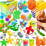 HAJACK Fidget Toys Packs, 40 PCS Sensory Toys Set for Autistic Children & ADHD & Adults & ADD & OCD to Relief Stress Gift with Marble Mesh & Fidget Squirrel Toy for Birthday & Classroom Reward