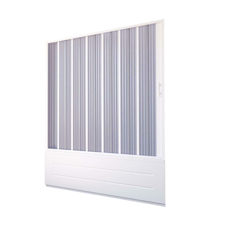 Puerta de Bañera 170 cm en PVC Plegable con Apertura Lateral H 150 ...