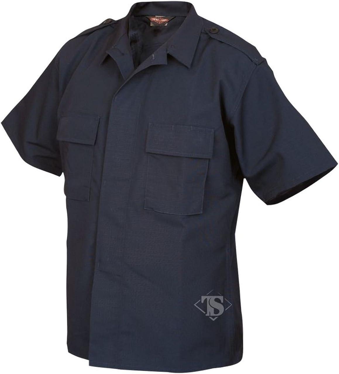 Tru-Spec 1001 Mens Short Sleeve Tactical Shirt, Rip-Stop, Navy Blue
