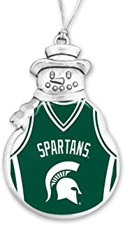FTH Michigan State Spartans Basketball Snowman Christmas Ornament