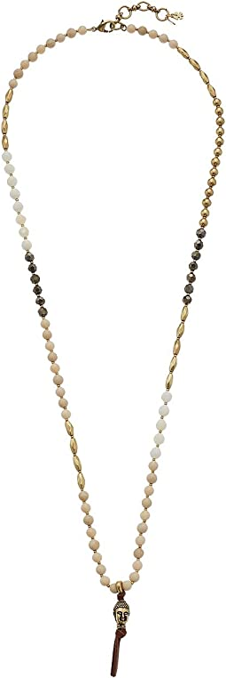 Lucky Brand Buddha Beaded Necklace
